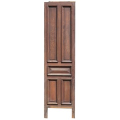 French Oak Panel with 5 Beaded Panels, 20th Century