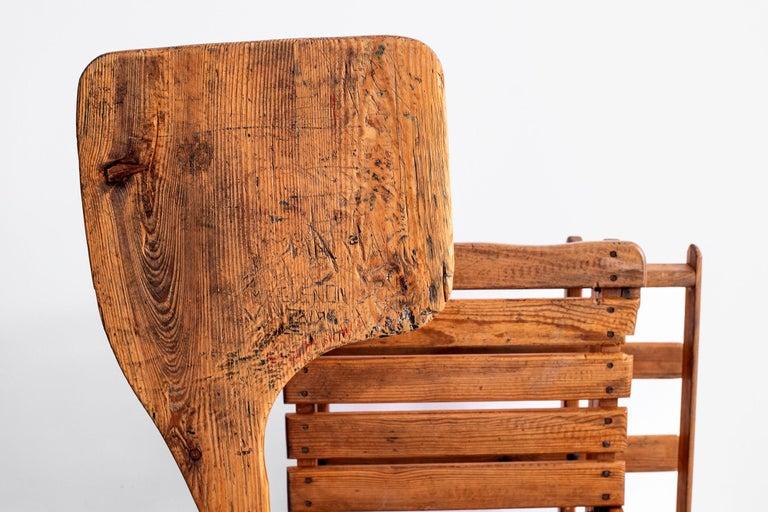 French Oak School Desk For Sale 11