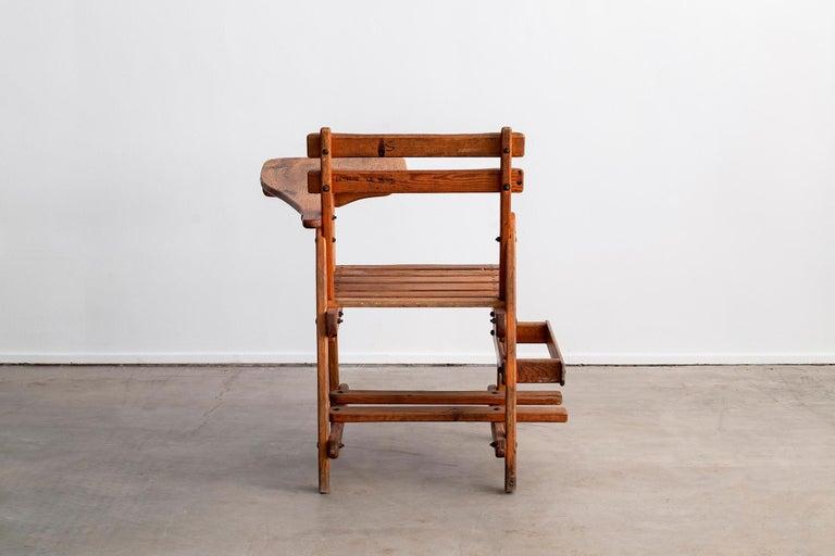 French Oak School Desk For Sale 2