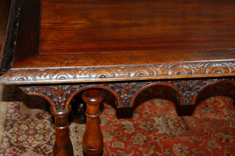 French Oak Long Dining Table Constructed from 17th Century Elements For Sale 1