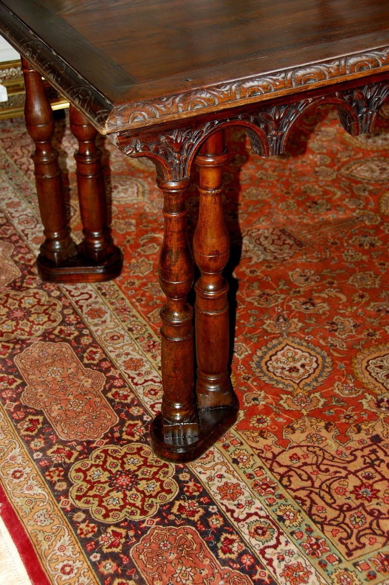 French Oak Long Dining Table Constructed from 17th Century Elements For Sale 2