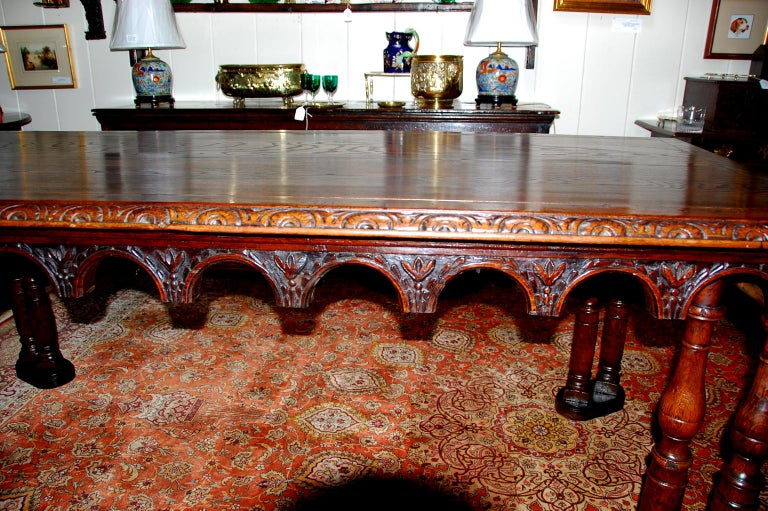 French Oak Long Dining Table Constructed from 17th Century Elements For Sale 3