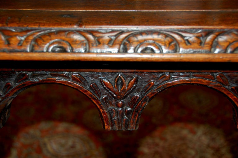 French Oak Long Dining Table Constructed from 17th Century Elements For Sale 4