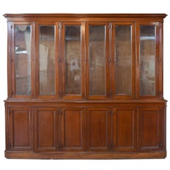 French Oak 12 Display Cabinet
