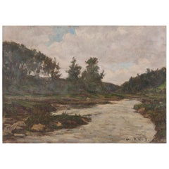 French Oil Landscape Painting