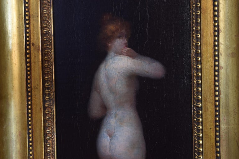 French Oil on Board of a Female Nude For Sale 1