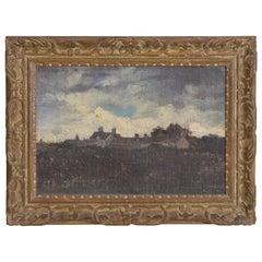 """French Oil on Canvas, """"Estate Among Dunes"""", Michel Eudes DE L'HAY"""