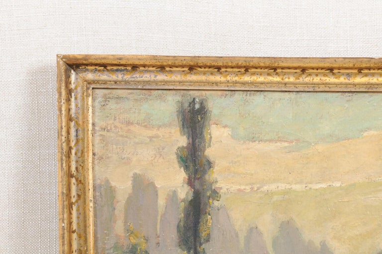 French Oil on Canvas Landscape Painting, Early 20th Century For Sale 3