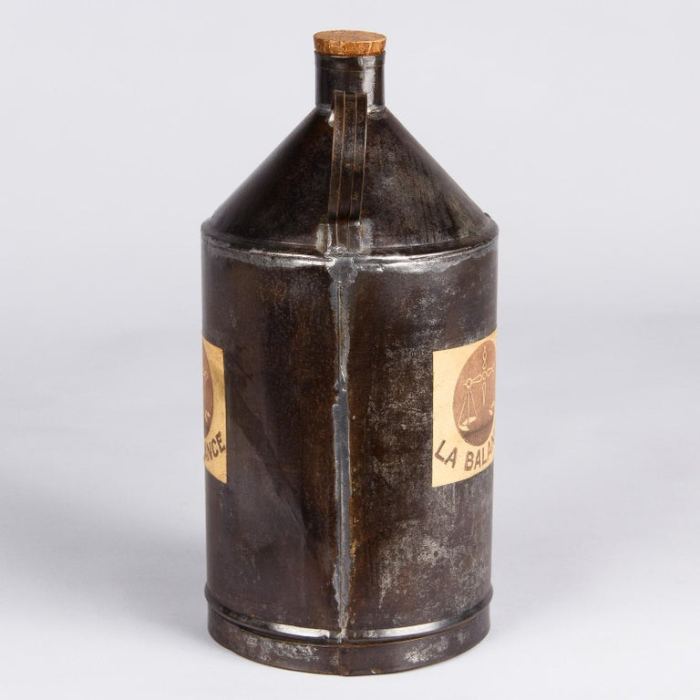 French Olive Oil Metal Can, 1920s For Sale 5