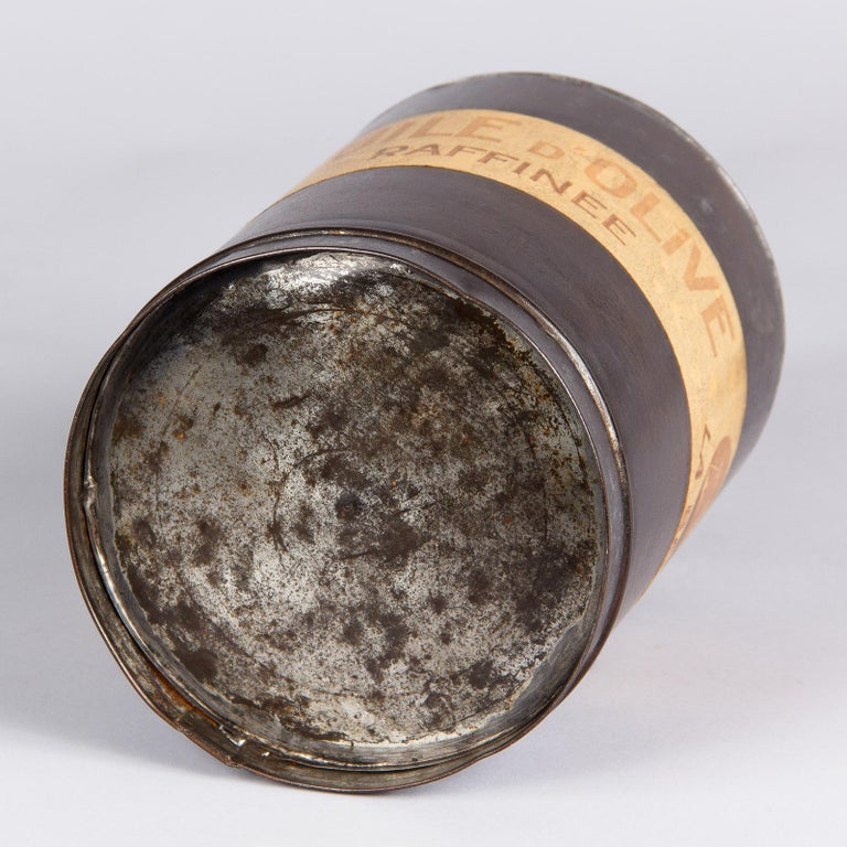 French Olive Oil Metal Can, 1920s For Sale 6