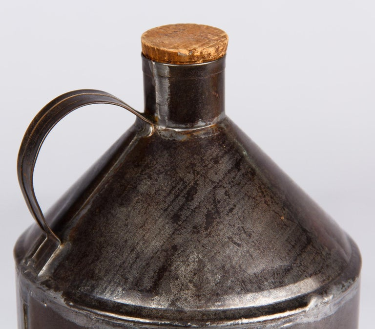 Early 20th Century French Olive Oil Metal Can, 1920s For Sale