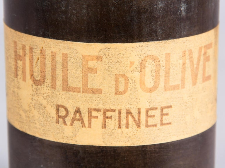 French Olive Oil Metal Can, 1920s For Sale 1