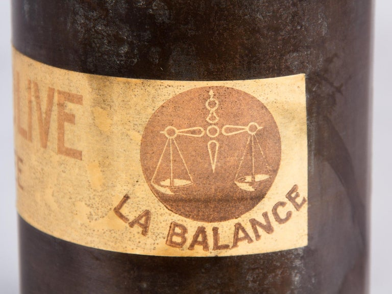 French Olive Oil Metal Can, 1920s For Sale 2