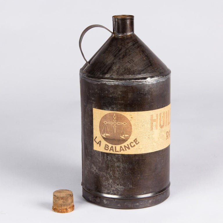 French Olive Oil Metal Can, 1920s For Sale 4