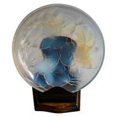 French Opalescent Glass Plate, Etling, France