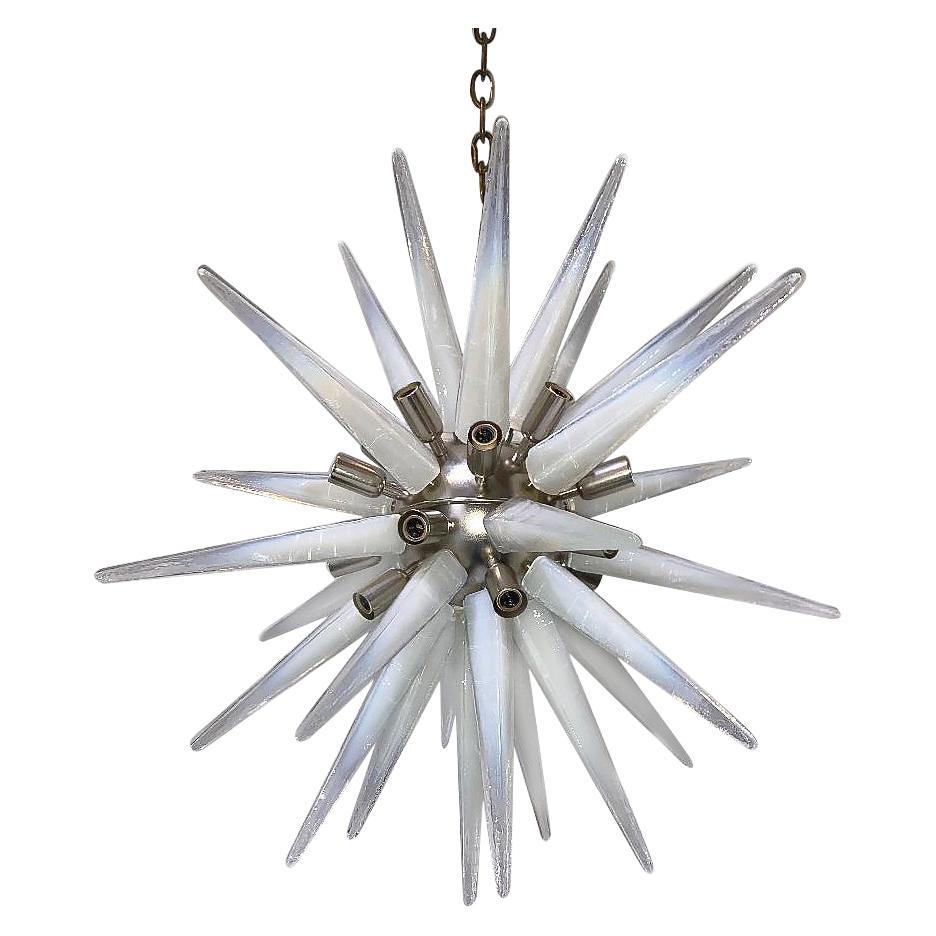 French Opaline Glass Sputnik Light Fixture