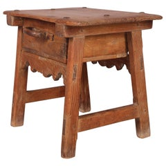 French or Spanish Antique Side Table