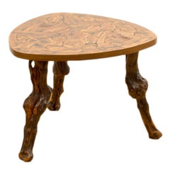 French Organic Wooden Occasional Table, circa 1920