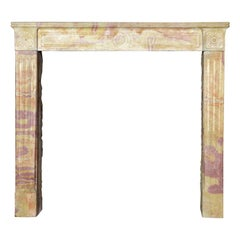 French Original Created by Nature Color Stone Vintage Fireplace Surround