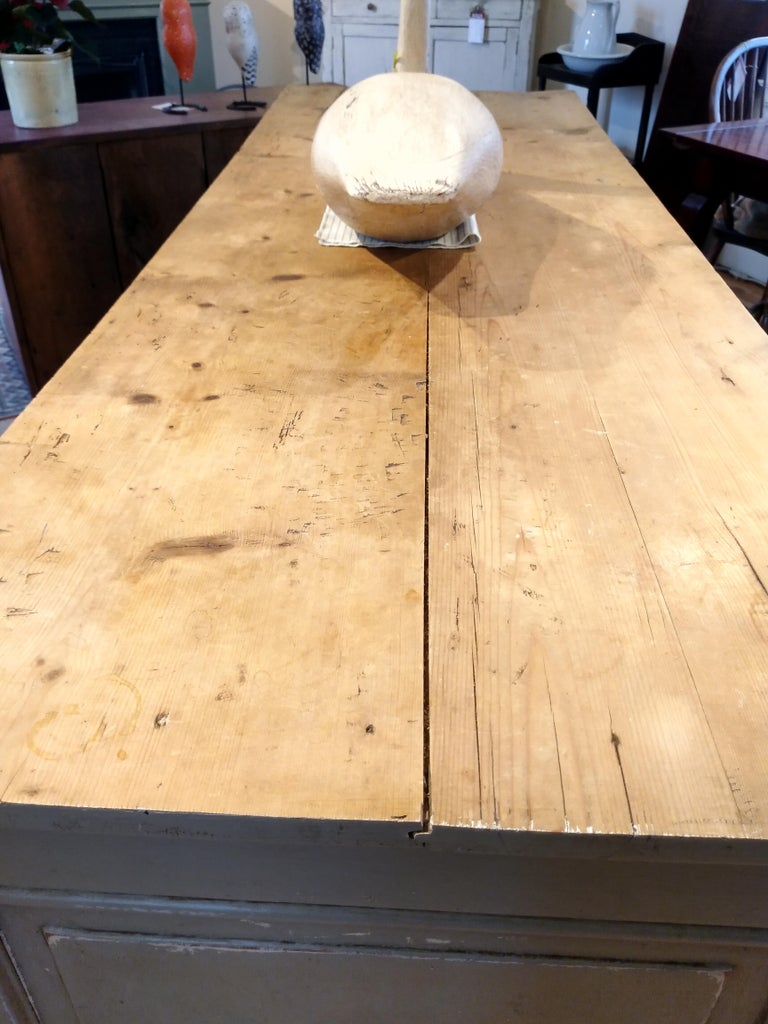 French Original Painted Store Counter For Sale 2