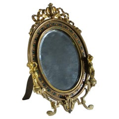 French Ormolu and Champlevé Enamel Dressing-Table Mirror
