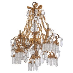 French Ormolu and Crystal Belle Époque Chandelier, circa 1900