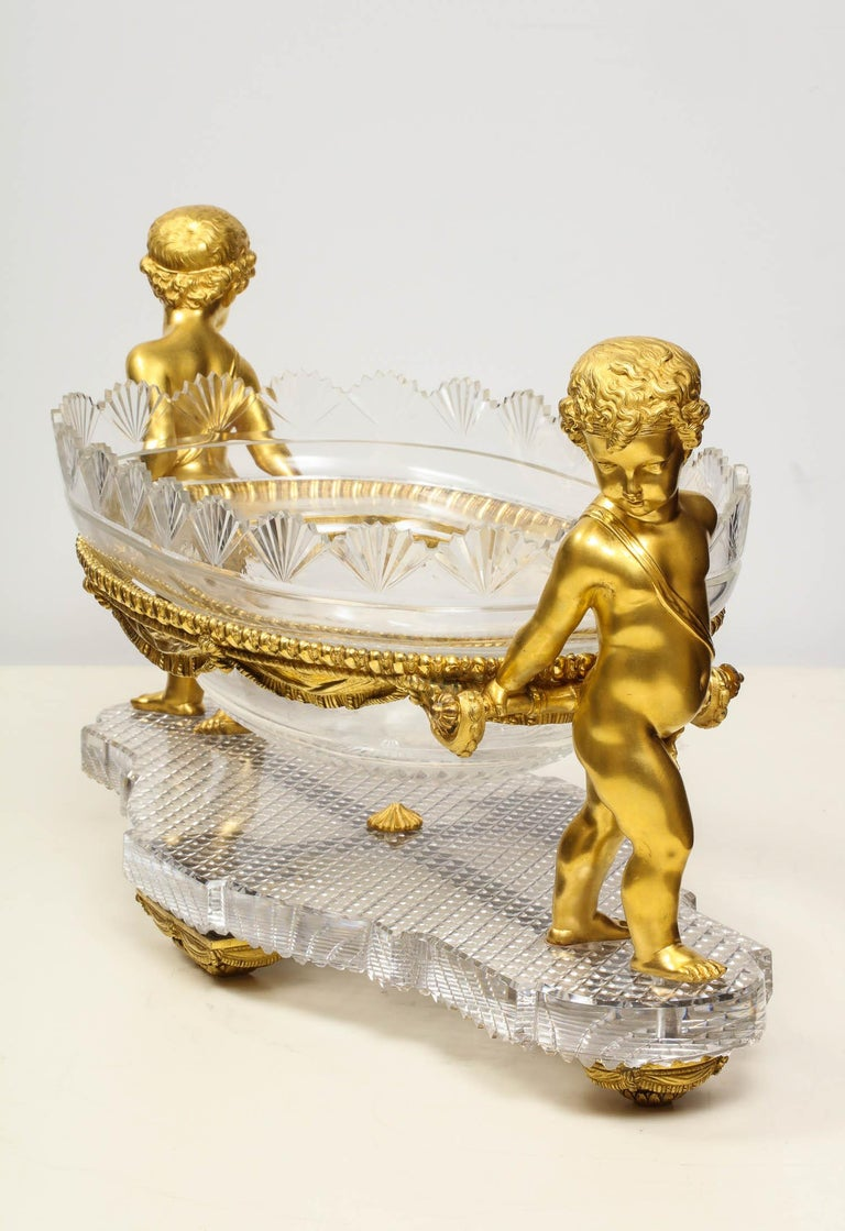 French Ormolu and Cut-Glass Centerpiece by Baccarat Paris, circa 1870 For Sale 5
