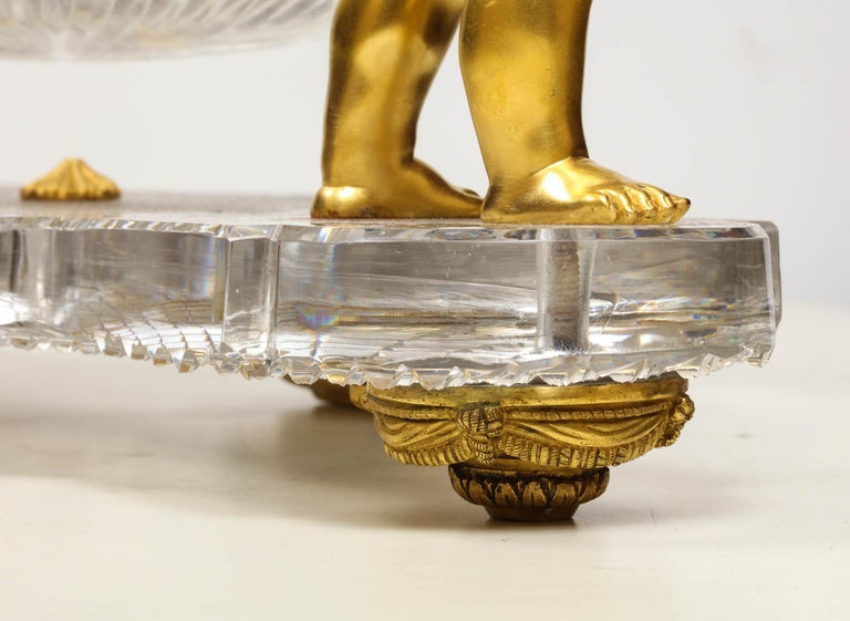 French Ormolu and Cut-Glass Centerpiece by Baccarat Paris, circa 1870 For Sale 9