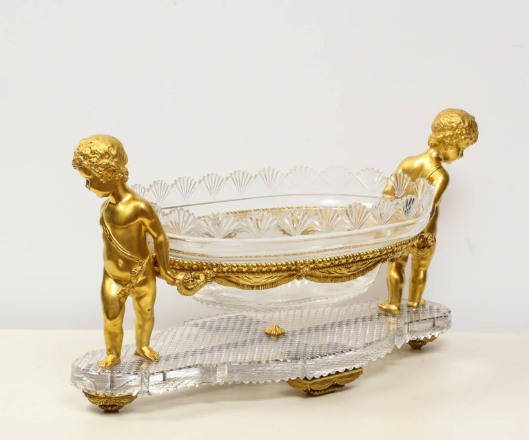 French Ormolu and Cut-Glass Centerpiece by Baccarat Paris, circa 1870 For Sale 1