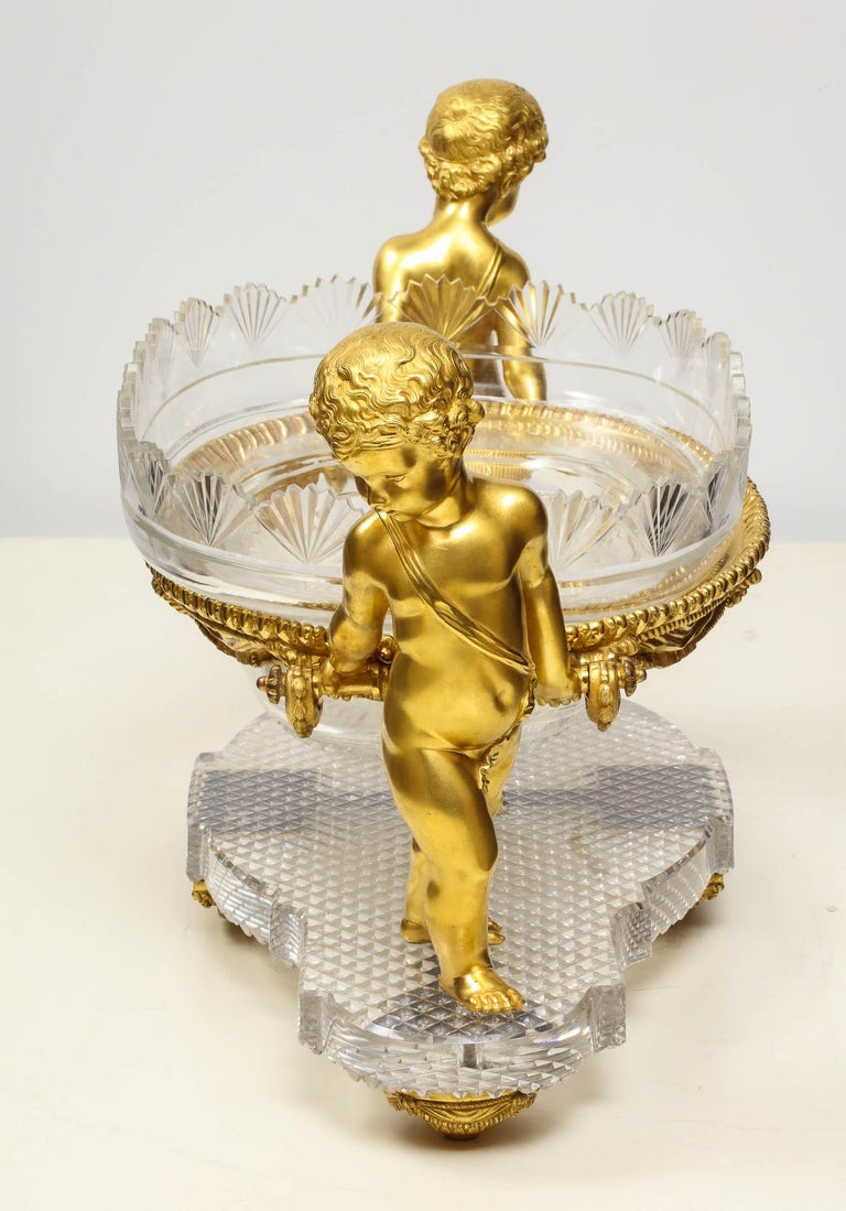 French Ormolu and Cut-Glass Centerpiece by Baccarat Paris, circa 1870 For Sale 2