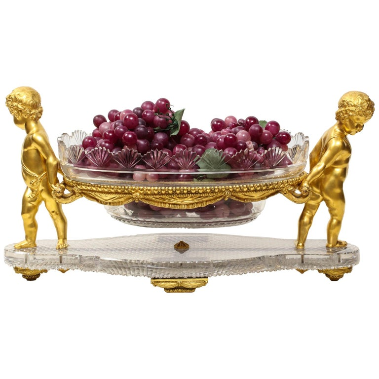 French Ormolu and Cut-Glass Centerpiece by Baccarat Paris, circa 1870 For Sale