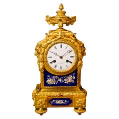 French Ormolu and Porcelain Mantel Clock by Wilson & Gander, London