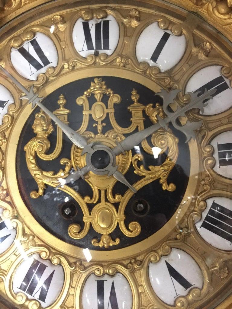 French Ormolu Cartel Clock, 19th Century by H&F Paris For Sale 6