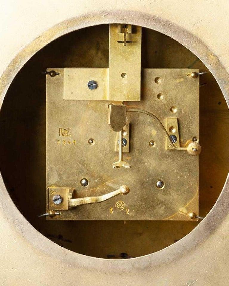 French Ormolu Cartel Clock, 19th Century by H&F Paris For Sale 7