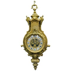 French Ormolu Cartel Clock, 19th Century by H&F Paris