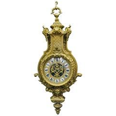 French Ormolu Cartel Clock, 19th Century by H&F Paris