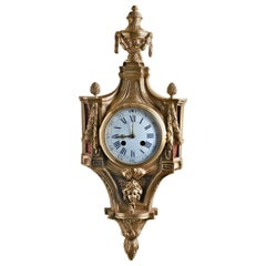 French Ormolu Cartel Wall Clock by Vassy, Jeure, Paris