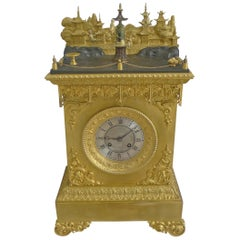 French Ormolu Chinoiserie Automaton Mantel Clock attributed to J.F Houdin