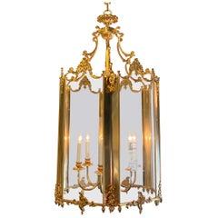 French Ormolu & Glass Lantern