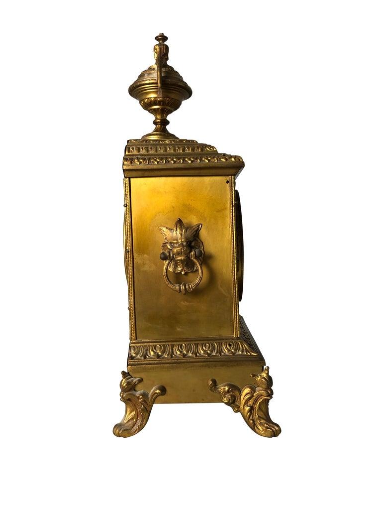 French Ormolu Mantel Clock, 19th Century For Sale 7