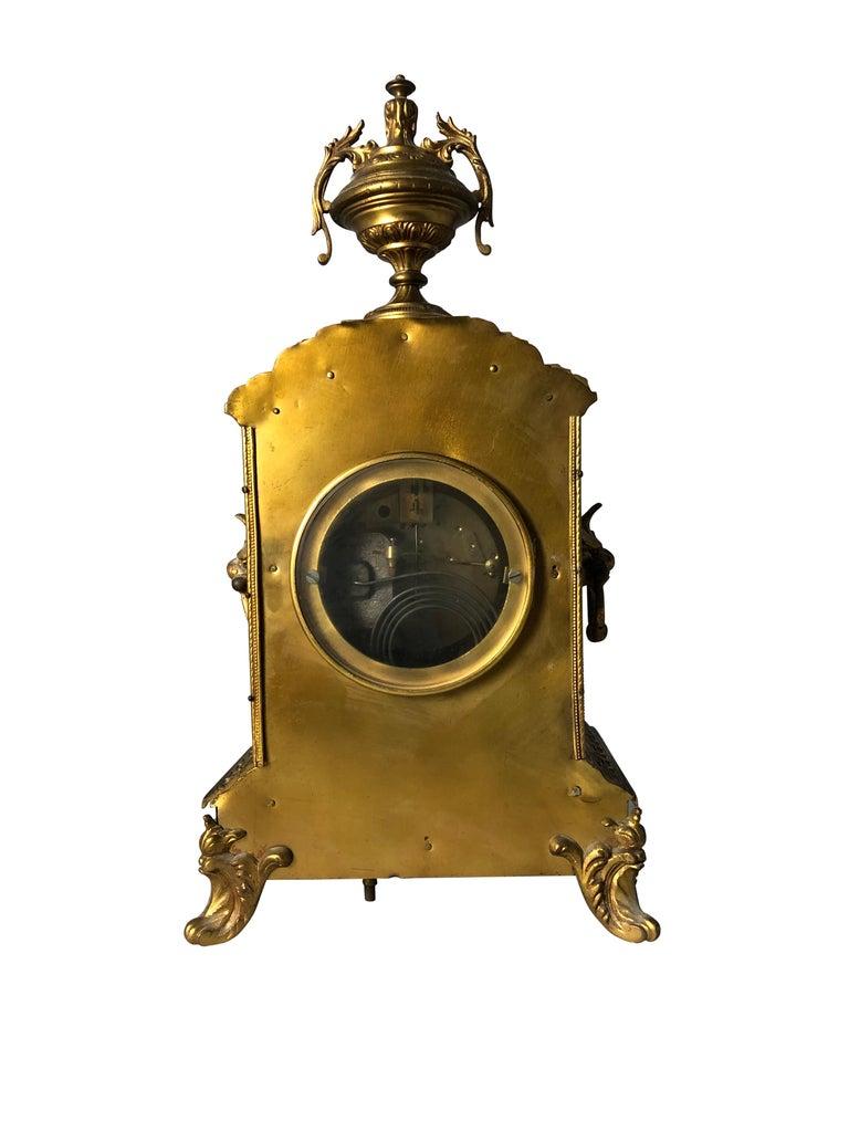 French Ormolu Mantel Clock, 19th Century For Sale 9