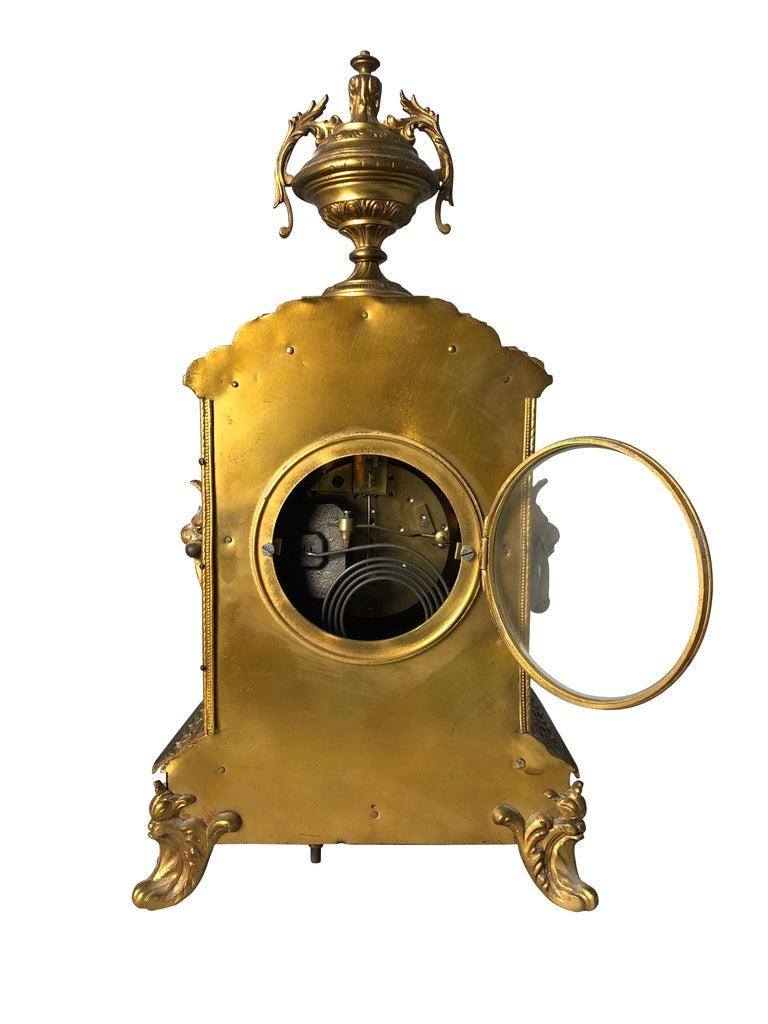 French Ormolu Mantel Clock, 19th Century For Sale 10