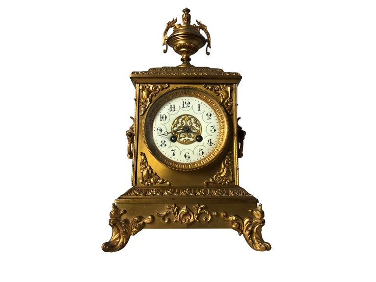 French Ormolu Mantel Clock, 19th Century In Good Condition For Sale In London, GB