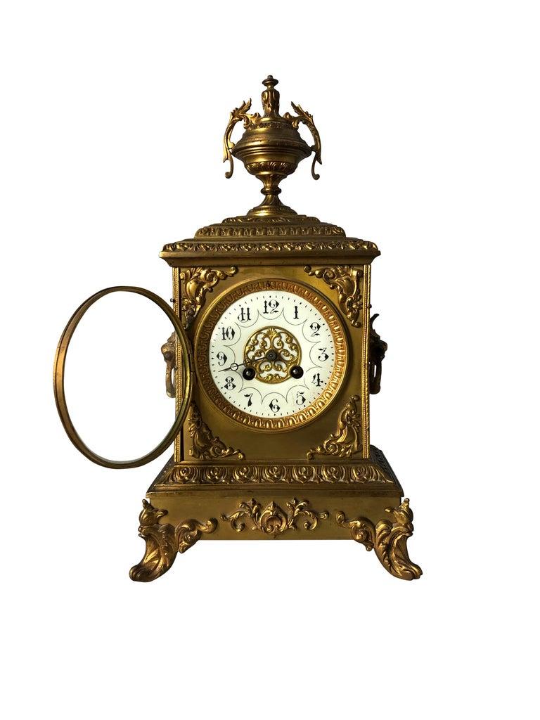 French Ormolu Mantel Clock, 19th Century For Sale 1