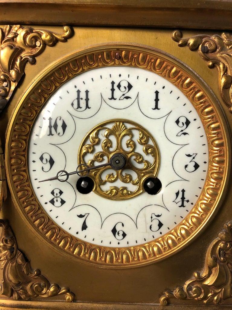 French Ormolu Mantel Clock, 19th Century For Sale 2