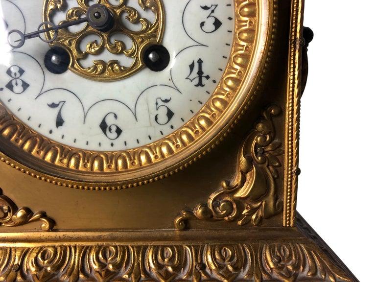 French Ormolu Mantel Clock, 19th Century For Sale 3