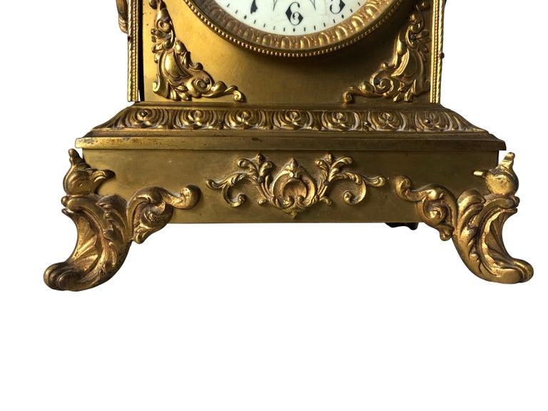 French Ormolu Mantel Clock, 19th Century For Sale 6