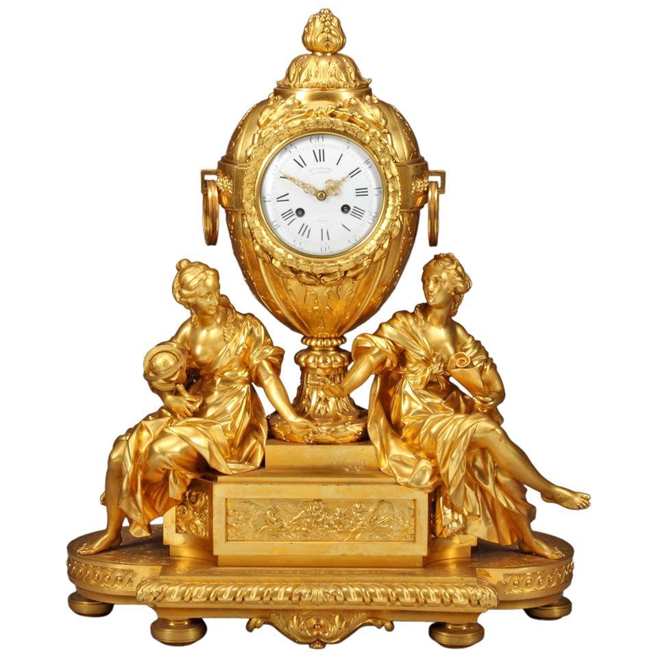French Ormolu Mantel Clock by Victor Paillard