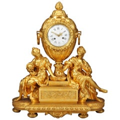 French Ormolu Mantel Clock by Victor Paillard