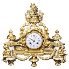 French Ormolu Mantel Clock France, Mid-Late 19th Century
